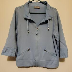 EUC Baby blue 3/4 sleeve knit jacket